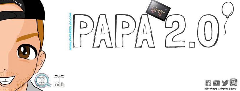 Bannière papa2.0 le blog
